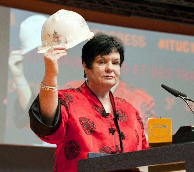 Sharan Burrow, general secretary of the International Trade Union Confederation (ITUC)